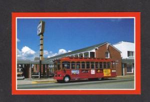 VA View Carriage Inn Motel Trolley Bus VIRGINIA BEACH Postcard Carte Postale