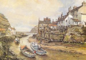 Postcard Art Staithes, North Yorkshire by Pat Bell Large 170x120mm P62