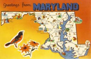 Maryland/MD Postcard, Greetings From Maryland,Old Line State