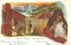 New Zealand Maori Kainga Litho 05.12