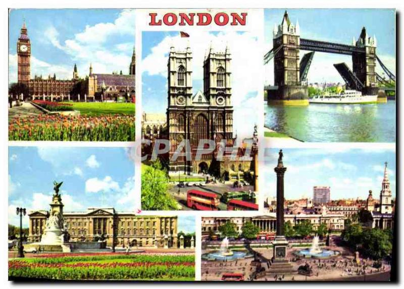Modern Postcard London Big Ben and Covers gold Parliament