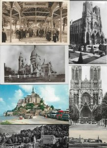 France Vichy Paris Lourdes and more Postard Lot of 18 with RPPC 01.01