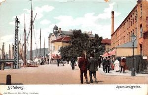 Sweden Old Vintage Antique Post Card Rosenlundsgatan Goteborg Unused