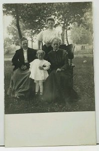 RPPC Victorian Women With Sweet Child Enjoying the Outdoors c1908 Postcard H13