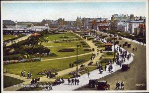 Valentine's 'Carbo Colour' Postcard 'The Promenade, Southport'