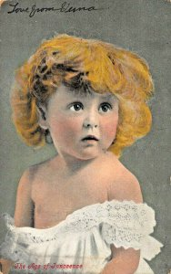 AGE OF INNOCENCE~CUTE YOUNG BLOND GIRL 1908 PSMK VALENTINE PUBLISHED POSTCARD