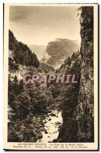 Old Postcard The Great Narrow's Bridge Goute Black