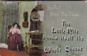 Humour Woman Talking On Telephone 1908
