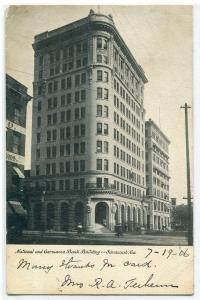 National Germania Bank Building Savannah Georgia 1906 postcard