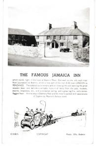 Post Card  Cornwall  Bodmin Moor  THE FAMOUS JAMAICA INN  TWIN MONARCHS Series