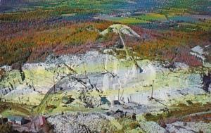 Vermont Barre Aerial View Of Granite Quarries