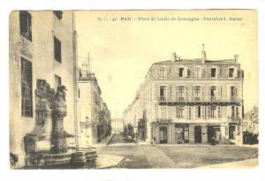 Pau, France, PU-1925 Place St-Louis de Gonzague