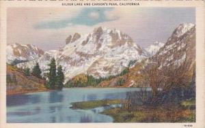 California Mono County Silver Lake And Carson's Peak 1938