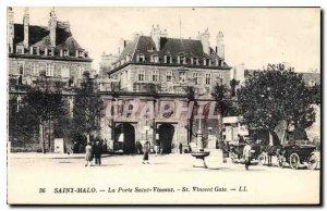 Old Postcard St Malo Porte Saint Vincent