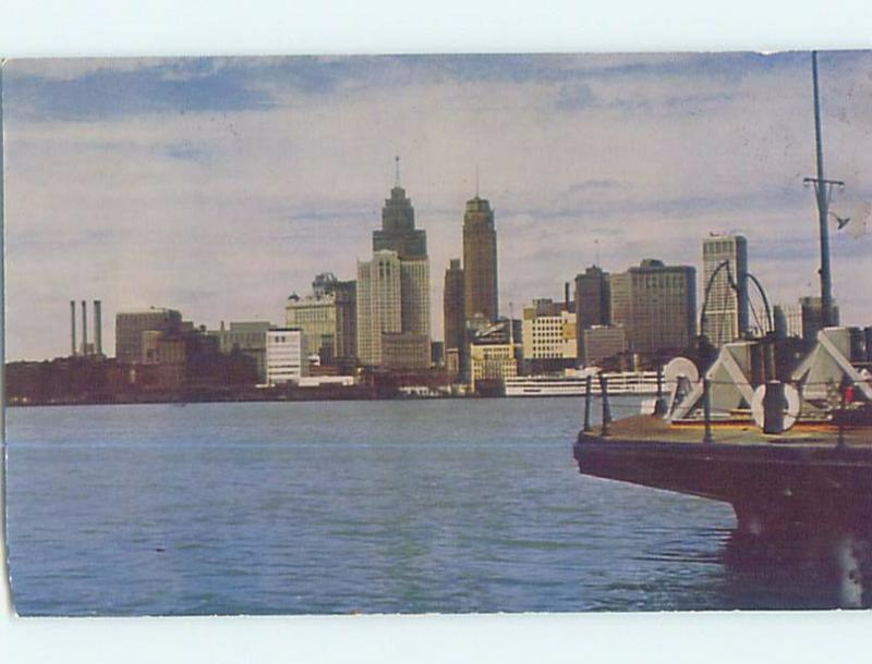 Pre-1980 PANORAMIC VIEW Detroit Michigan MI hp4192