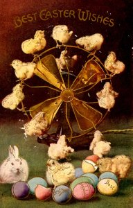 Greeting - Easter. Chicks & Bunny  (chipping)
