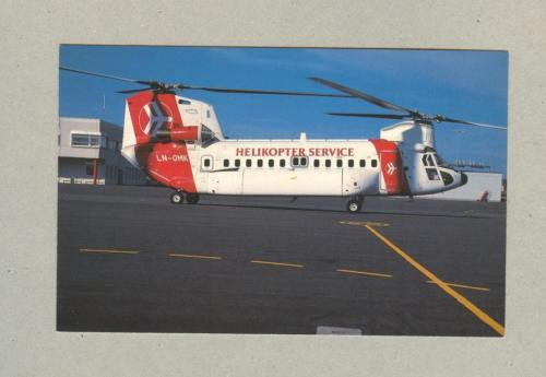 postcard HELICOPTER BOEING HELIKOPTER SERVICE