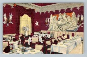Chicago IL-Illinois, Continental Russian Restaurant, Advertising Linen Postcard