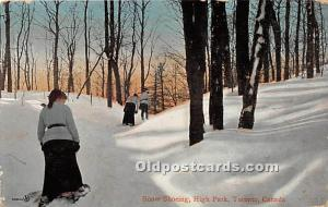 Snow Shoeing, High Park Toronto, Canada Postal Used Unknown