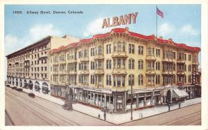 Denver Colorado~Albany Hotel~1920 Postcard