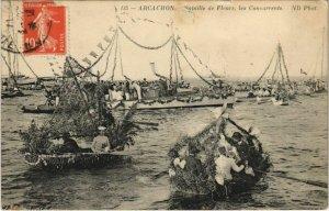 CPA ARCACHON-Bataille de Fleurs les Concurrents (27679)