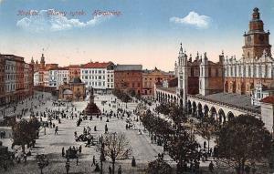 Poland Krakow Glowny rynek, Houptring, Hotring, Main Market Square 1915