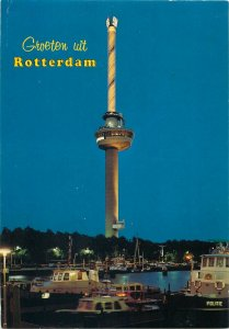 Postcard Netherlands Holland Rotterdam tower