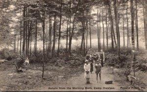 Pennsylvania Pocono Mountains Pocono Pines Camp Owaissa Return From The Morni...