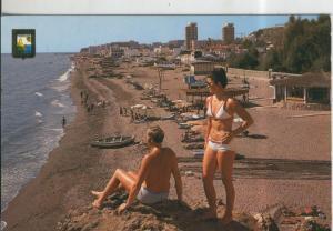 Postal 010032: Playa de la carihuela de Torremolinos, Malaga