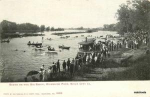 C-1905 Big Sioux Riverside Park Sioux City Iowa Kropp undivided postcard 6529