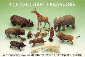 Postcard Collectors Treasures Buxton Collectors Fayres 1990 Zoo Animals #800