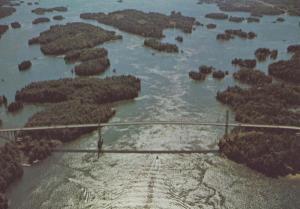 Thousand Islands Bridge Ontario Canada Canadian Overhead View Postcard