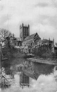 England Swan Poole Reflection of Wells Cathedral, Somerset 1927