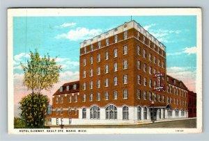 Sault St. Marie MI-Michigan, Hotel Ojibway, Advertising, Vintage c1929 Postcard