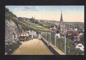 ESSLINGEN A.N. GERMANY PARTIE AN DER NECKERHALDE ANTIQUE VINTAGE POSTCARD