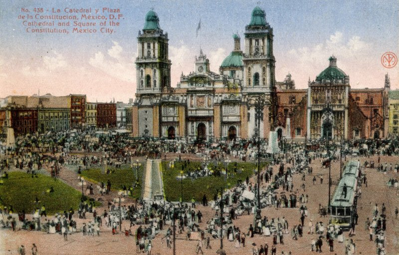 Mexico - Mexico City. Cathedral & Square of the Constitution
