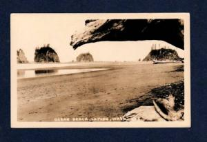 WA Ocean Beach LAPUSH WASHINGTON WASH Real Photo RPPC Postcard