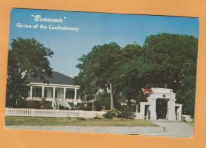 Shrine of Confederacy Beauvoir Biloxi Mississippi Historic Buillding Postcard