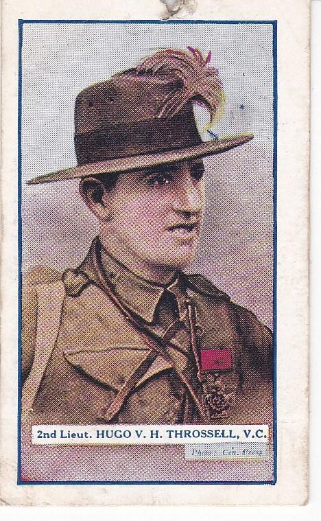 Cigarette Cards Gallaher Great War V C Heroes 3rd series No 71 Hugo Throssell