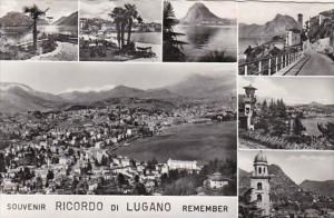 Switzerland Lugano Multi View 1965 Photo