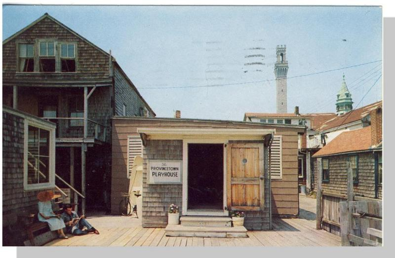 Provincetown, Mass/MA Postcard, P'town Playhouse, Cape Cod