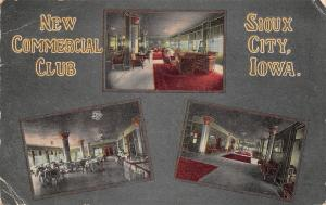 Sioux City Iowa~New Commercial Club~Building Interior~ 1914 Postcard