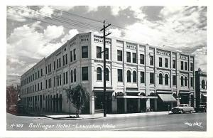 RPPC of Bollinger Hotel Lewiston Idaho ID by Ross Hall
