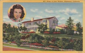 California Westwood Home Of Jane Withers 1944 Curteich