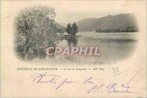 Old Postcard Around Gerardmer Lake Longemer (map 1900)