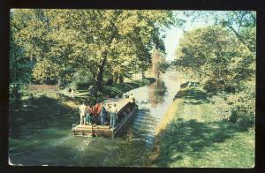 New Hope, Pennsylvania/PA/Penn Postcard, Barge Ride On Delaware Canal, Bucks