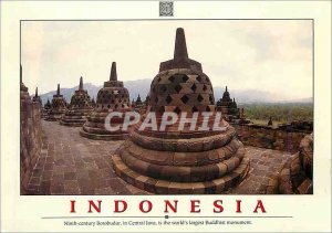 Postcard Modern Indonesia Ninth Century Borobudur in Central Java is the Worl...