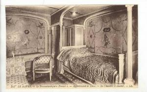 Interior, Ocean Liner  FRANCE , 00-10s   Appartement de Luxe.-La Chambre a co...