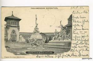 Pan-American Expo PMC Fountain Nature Postcard