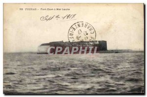 Postcard Old Fort Enet Fouras has high sea